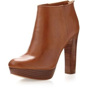 Michael Kors Lesly Luggage Ankle Booties